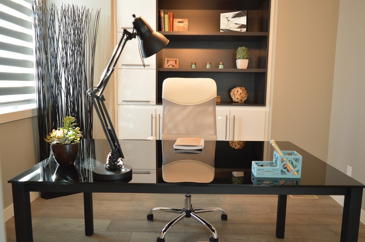 home office chair and desk