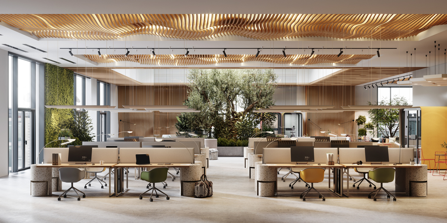 add nature to office interiors